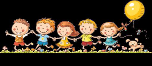 Dzieci biegnące łąką